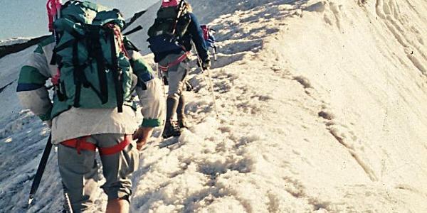 Anstieg zur Wildspitze