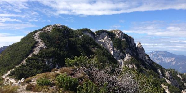 Schwarzkogel mit Gipfelkreuz