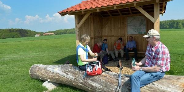 Schutz- und Picknickhütte auf dem Knipsberg