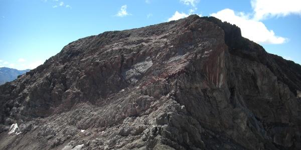 Feuerspitze vom Anstieg zur Holzgauer Wetterspitze
