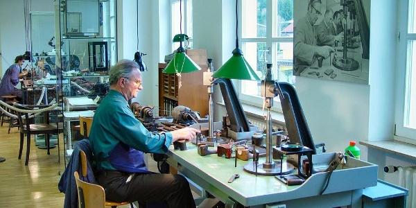 Diamantschleifermuseum Ausstellungsraum