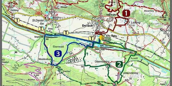 Nordic Walking Karte Dellach