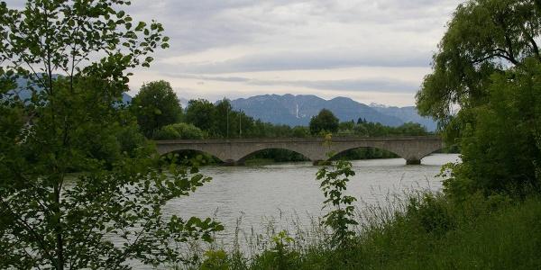 Eisenbahnbrücke über die Saalach