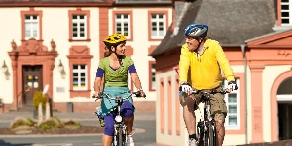 Auf dem Lahntalradweg in Weilburg