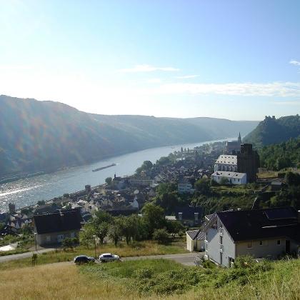 Ausblick auf Oberwesel.