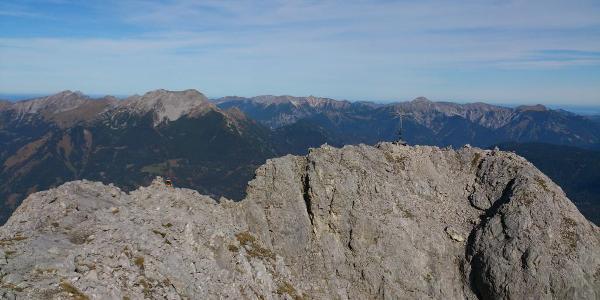 Gipfelfoto vom Süd-Vorgipfel aus