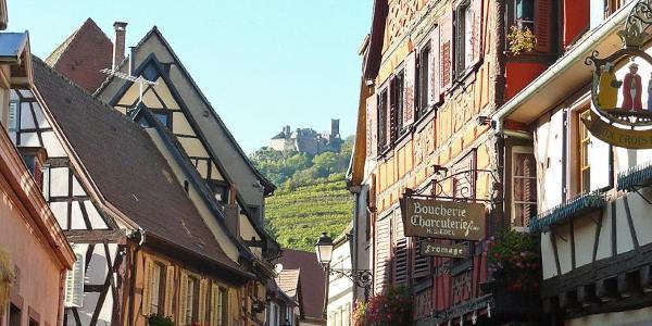 La grande rue in Ribeauvillé