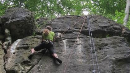 Kletterfelsen im Durchbruch der Glene
