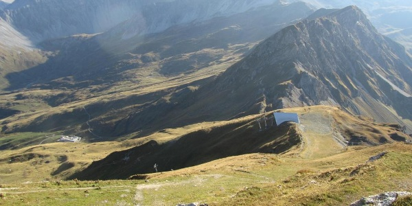 Weisshorn Gipfel Blick Richtung Carmennahütte