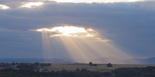 Sonnenuntergang am Bleidenberg