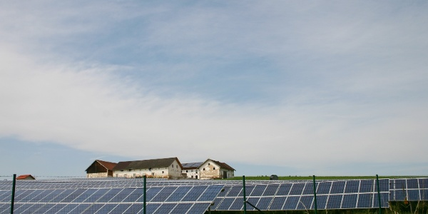 Solarkraftwerk bei Embach.