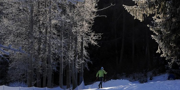 XC skiing on Marcialonga track