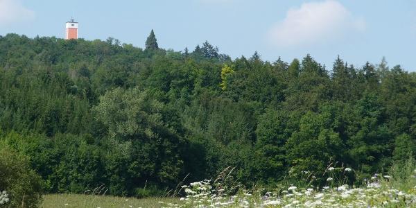 Burgberg mit Aussichtsturm bei Oberspeltach