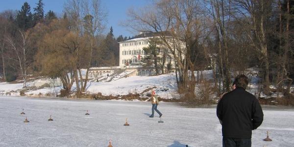 Eisstockschiessen auf dem Abtsee