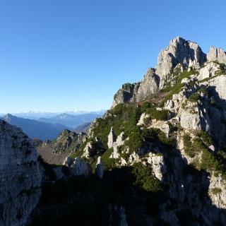 Noch einmal schweift der Blick zurück zum Monte Cornetto.