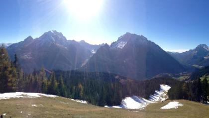 Panoramablick von der Berggaststätte Hirschkaser