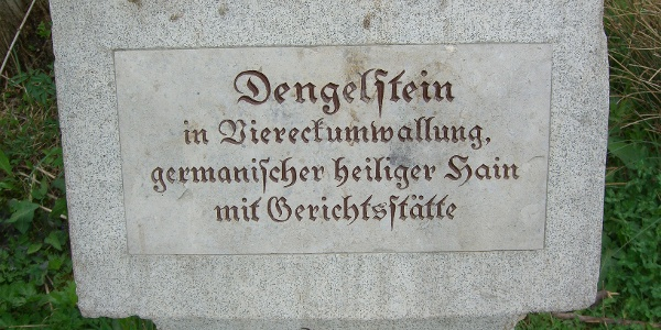 Tafel am Dengelstein