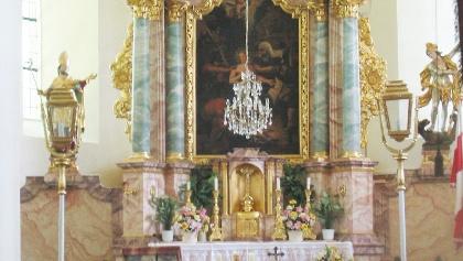 Das Innere der Veitsberg-Kapelle.