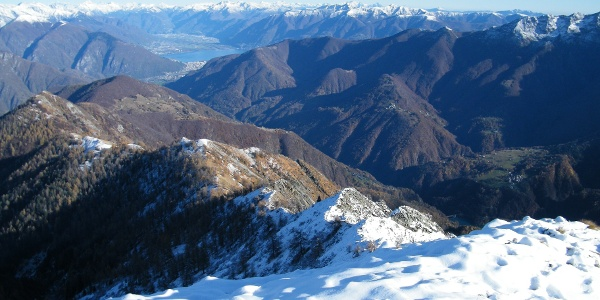 Blick vom Gipfel des Pizzo Ruscada.