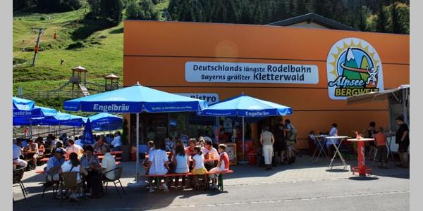 Das Alpsee-Bistro an der Talstation.