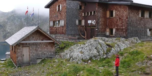 Ankunft an der Wangenitzseehütte