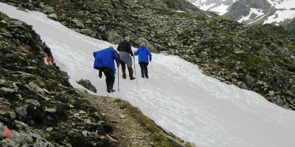 steile Schneefelder sind möglich