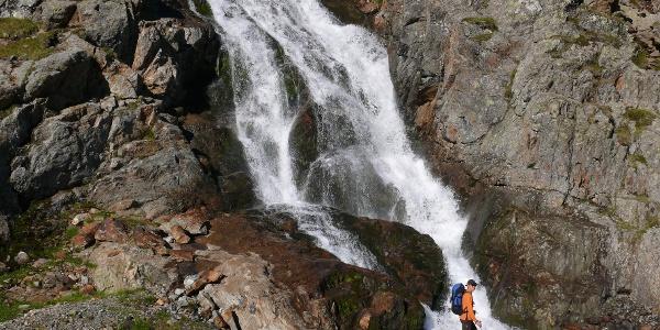 Wasserfall nahe der Elberfelder Hütte