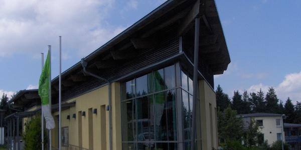 Im Rhön-Infozentrum können wir uns über das Biosphärenresrevat informieren.