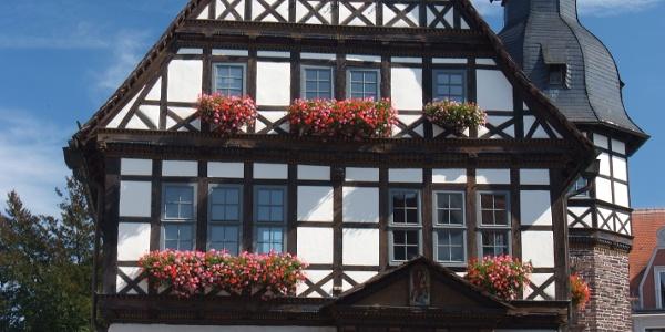 Erker des historischen Rathauses