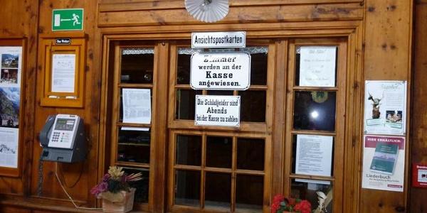 Check-in wie vor 100 Jahren in der Berliner Hütte