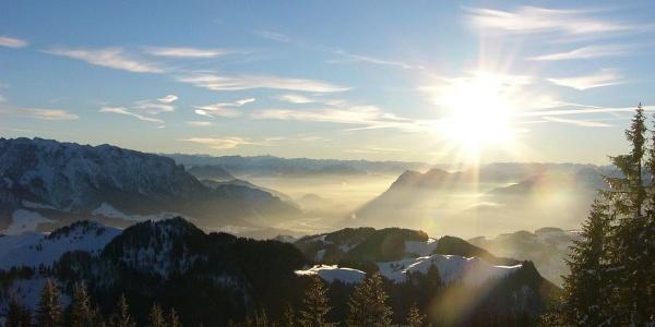 Ausblick von der Mühlhornwand.