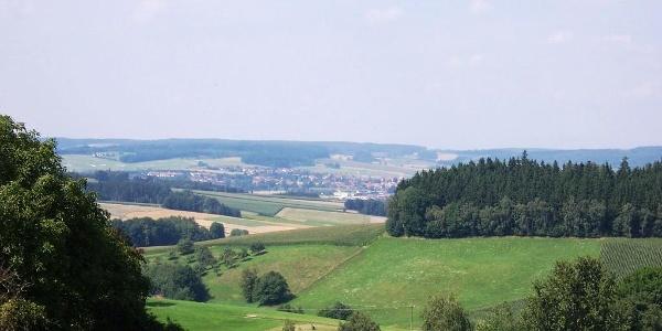 Rottaler Hügellandschaft - Ausblick bei Fuchsöd auf Bad Birnbach