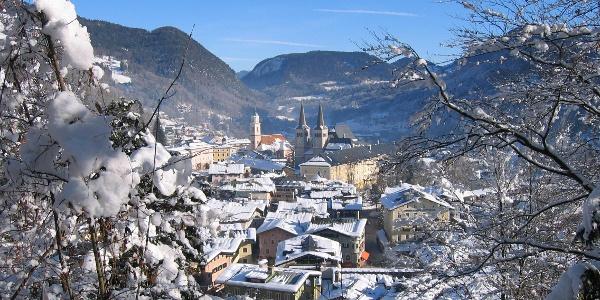 Blick vom Soleleitungsweg auf Berchtesgaden