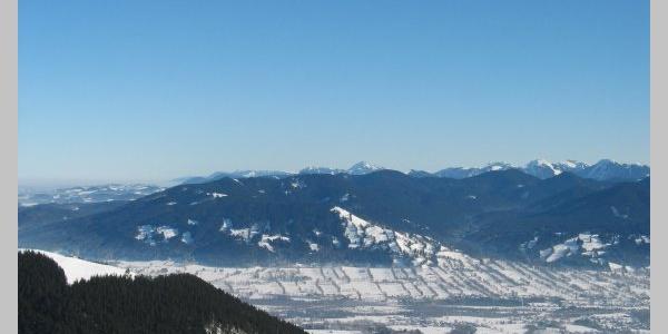 Blick vom Gipfel des Zwiesel nach Osten.