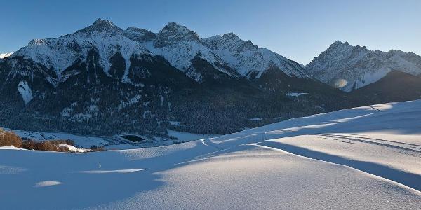 Die Unterengadiner Berglandschaft.