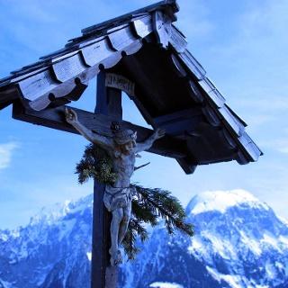 Gipfelkreuz am Grünstein