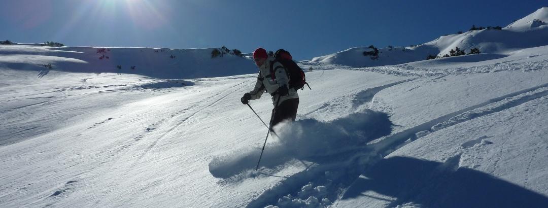 Ski-Abfahrt vom Toreck