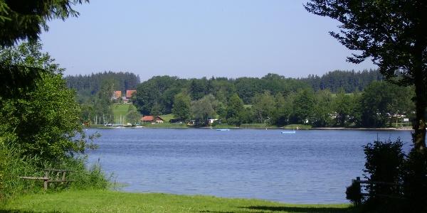 An der Strandwiese am Badsee besteht die Möglichkeit zum kostenfreien Baden.