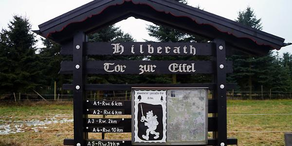 Am Startpunkt in Hilberath