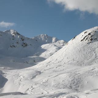 Blick durch das Agsttal zum Gipfel