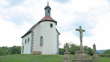 Die Sankt Gangolfkapelle wurde 1754 im Rokokostil erbaut.
