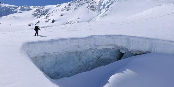 Anstieg zum Piz Buin, Ochsentaler Gletscher