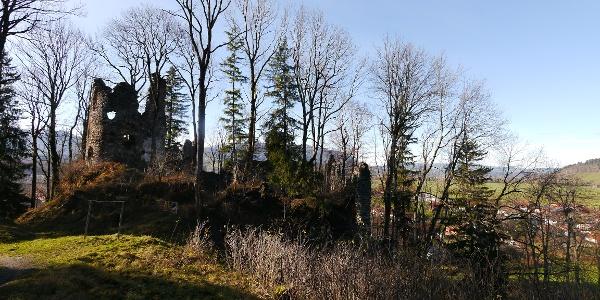 Burgruine Fluhenstein - eine ehemals stattliche Burganlage