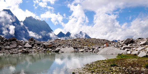 Der kleine See oberhalb der Greizer Hütte.