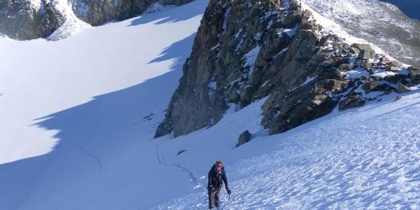 Tiefblick in das Gletscherbecken