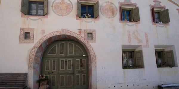 traditionelles Haus in Sent