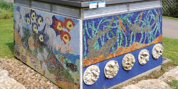 Urzeitmosaik von Andrea Neumayer
