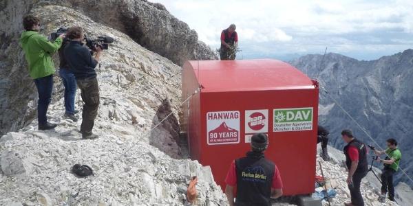 Jubiläumsgrathütte - Aufbau
