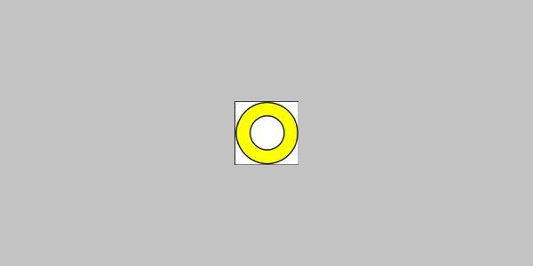 Markierungszeichen - gelber Ring