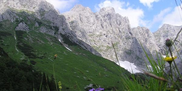 Blick zur Ackerl- und Mauckspitze